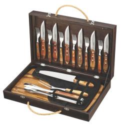 Подарочный набор для барбекю со столовыми приборами в чемодане Tramontina Polywood Barbecue (21198/466)