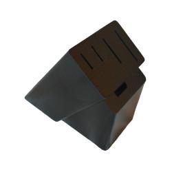 Деревянная подставка из ясеня под 4 ножа и ножницы черная (ДПН-3)