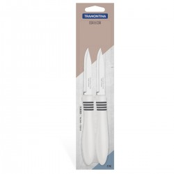 Набор из 2-х ножей для овощей 76 мм COR&COR Tramontina белая ручка (23461/283)