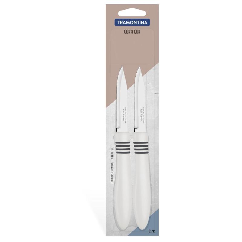 Набор из 2-х ножей для овощей 76 мм COR&COR Tramontina /сер руч