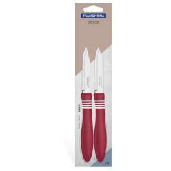 Набор из 2-х ножей для овощей Tramontina Cor&Cor 76 мм (23461/273)