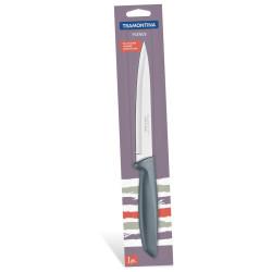 Разделочный нож Tramontina Plenus серый в блистере 152 мм (23424/166)
