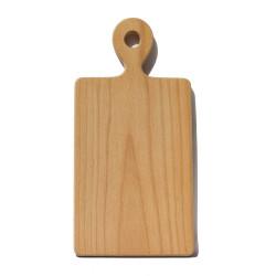 Деревянная разделочная доска из цельного массива с ручкой, средняя, 21х30 см ДРД-4