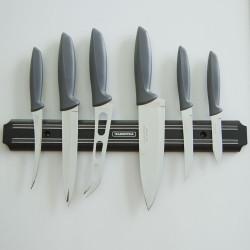 Набор из 6 ножей Tramontina Plenus с серыми ручками (23498/660)