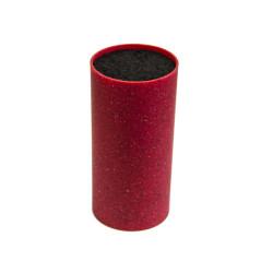 Круглая подставка для ножей с наполнителем красная 18 см высота (KM 7604R)