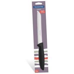 Нож для хлеба Tramontina Plenus черный в блистере 203 мм (23422/108)
