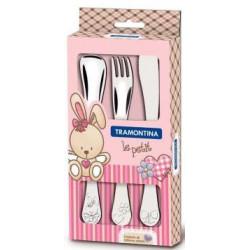 Набор детских столовых приборов Tramontina Baby Le Petit розовый 3 шт (66973/005)