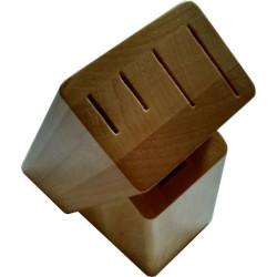 Деревянная подставка из ясеня под 4 ножа и ножницы ДПН-2