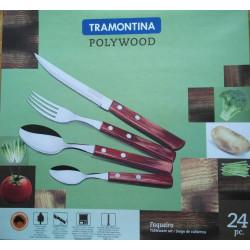 Набор столовых приборов Tramontina Polywood, орех, 24 предмета (21199/905)