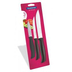 Набор из трех ножей в блистере Tramontina Athus black (23099/084)