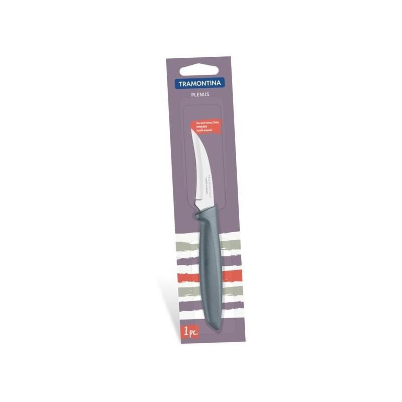 Нож шкуросъемный Tramontina Plenus серый в блистере, 76 мм (23419/163)