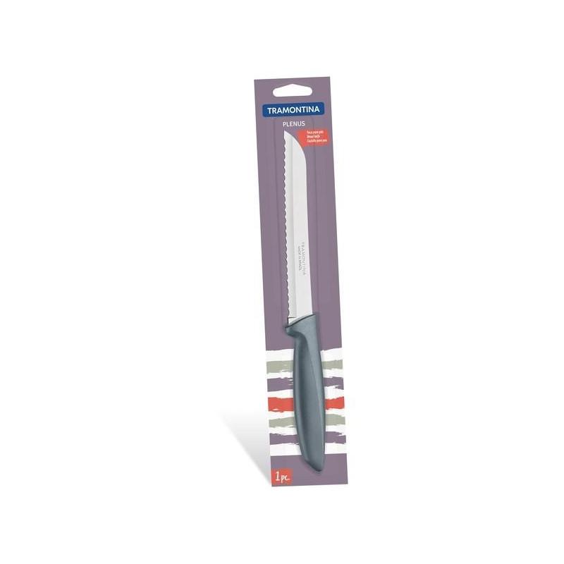 Нож для хлеба Tramontina Plenus серый в бистере, 178 мм (23422/167)