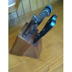 Набор ножей с подставкой из дерева Tramontina Polywood (Р-1)