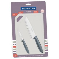 Набор ножей Tramontina Plenus и пластиковая разделочная доска (23498/614)