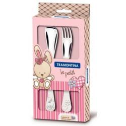 Набор детских столовых приборов Tramontina Baby Le Petit, розовый, 2 предмета (66973/015)